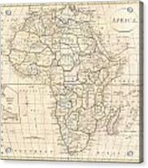 1799 Clement Cruttwell Map Of Africa  Acrylic Print
