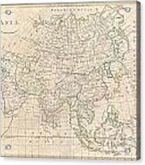 1799 Clement Cruttwell Map Of Asia Acrylic Print