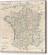 1799 Clement Cruttwell Map Of France In Provinces Acrylic Print