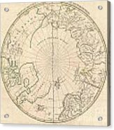 1799 Clement Cruttwell Map Of North Pole Acrylic Print