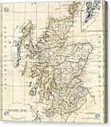 1799 Clement Cruttwell Map Of Scotland Acrylic Print