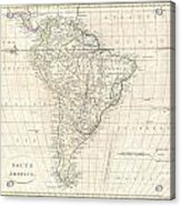 1799 Clement Cruttwell Map Of South America  Acrylic Print