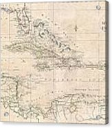 1799 Clement Cruttwell Map Of West Indies Acrylic Print