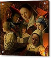 17th Century Maidens Acrylic Print