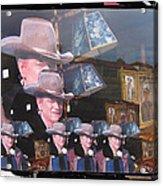 21 Duke's John Wayne Cardboard Cutout Collage Tombstone  Arizona 2004-2009 Acrylic Print