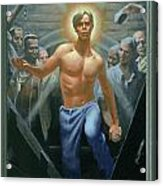 18. Jesus Rises / From The Passion Of Christ - A Gay Vision Acrylic Print by Douglas Blanchard