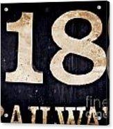 18 Railway Acrylic Print