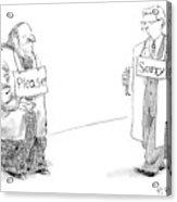 New Yorker January 22nd, 2007 Acrylic Print