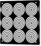 180 Circles Grayscale Acrylic Print