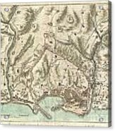 1800 Bardi Map Of Genoa Genova Italy  Acrylic Print