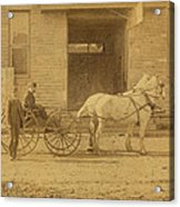 1800's Vintage Photo Of Horse Drawn Carriage Acrylic Print
