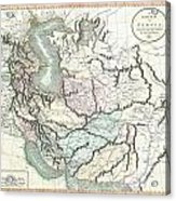 1801 Cary Map Of Persia  Iran Iraq Afghanistan Acrylic Print