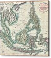 1801 Cary Map Of The East Indies And Southeast Asia  Singapore Borneo Sumatra Java Philippines Acrylic Print