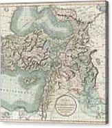 1801 Cary Map Of Turkey Iraq Armenia And Sryia Acrylic Print