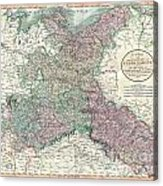 1801 Cary Map Of Upper Saxony Germany  Berlin Dresden Acrylic Print