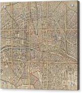 1802 Chez Jean Map Of Paris In 12 Municipalities France Acrylic Print