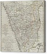 1804 German Edition Of The Rennel Map Of India Acrylic Print