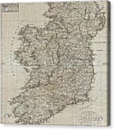 1804 Jeffreys And Kitchin Map Of Ireland Acrylic Print