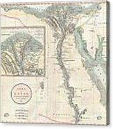 1805 Cary Map Of Egypt Acrylic Print