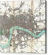 1806 Mogg Pocket Or Case Map Of London Acrylic Print