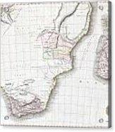 1809 Pinkerton Map Of Southern Africa Acrylic Print