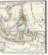 1810 Tardieu Map Of The East Indies Singapore Southeast Asia Sumatra Borneo Java Acrylic Print
