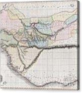 1813 Pinkerton Map Of Western Africa Acrylic Print