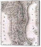 1814 Rizzi Zannoni Map Of Italy Acrylic Print