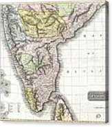 1814 Thomson Map Of India Acrylic Print