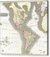 1814 Thomson Map Of North And South America Acrylic Print