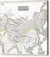 1814 Thomson Map Of Tartary  Mongolia Tibet Acrylic Print