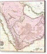 1818 Pinkerton Map Of Arabia And The Persian Gulf Acrylic Print