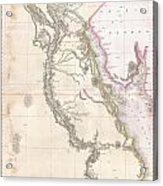 1818 Pinkerton Map Of Egypt Acrylic Print