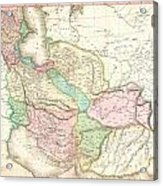 1818 Pinkerton Map Of Persia  Acrylic Print