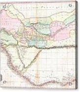 1818 Pinkerton Map Of Western Africa  Acrylic Print