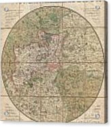 1820 Mogg Pocket Or Case Map Of London Acrylic Print