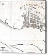 1820 Yates Map Of Albany Circa 1770 Acrylic Print