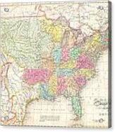1823 Melish Map Of The United States Of America Acrylic Print