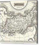 1826 Assheton Map Of Russia In Asia Acrylic Print