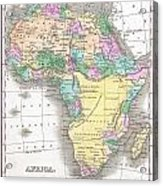 1827 Finley Map Of Africa Acrylic Print