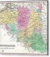 1827 Finley Map Of Belgium And Luxembourg Acrylic Print