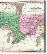 1827 Finley Map Of Canada  Acrylic Print