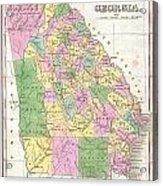 1827 Finley Map Of Georgia Acrylic Print