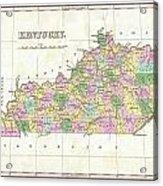 1827 Finley Map Of Kentucky Acrylic Print