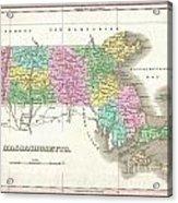 1827 Finley Map Of Massachusetts Acrylic Print