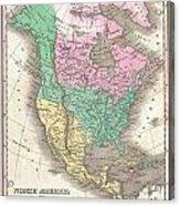 1827 Finley Map Of North America Acrylic Print
