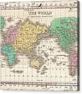 1827 Finley Map Of The World Acrylic Print