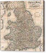 1830 Pigot Pocket Map Of England And Wales Acrylic Print
