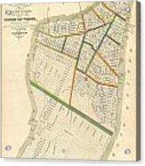 1831 Hooker Map Of New York City Acrylic Print