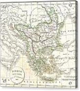 1832 Delamarche Map Of Greece And The Balkans Acrylic Print